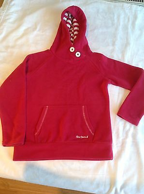 Girls Red Hooded Fleece Age 7/8 years Brand New No Tags