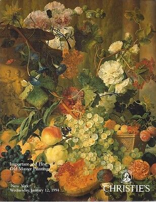 Important Old Master Paintings   Catalogue Christie's 1994