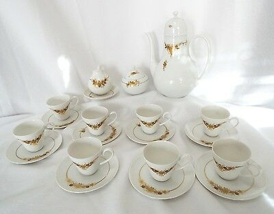 RARE 57' Rosenthal Medley 24kt hp Gold Demitasse Coffee Cocoa Tea service for 8