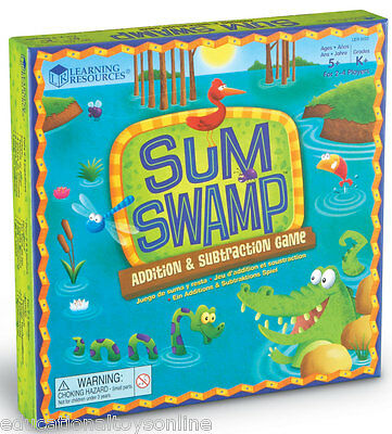 Learning Resources Sum Swamp Addition & Subtraction Maths Game for Kids– NEW