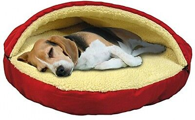 Cave Dog Bed With Removable Zipped Top Plush Warm Cosy Pet Cushion Small