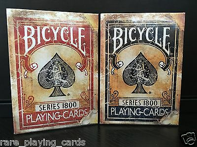 Set of 2 decks Bicycle Series 1800 playing Cards by Ellusionist (Blue and Red)