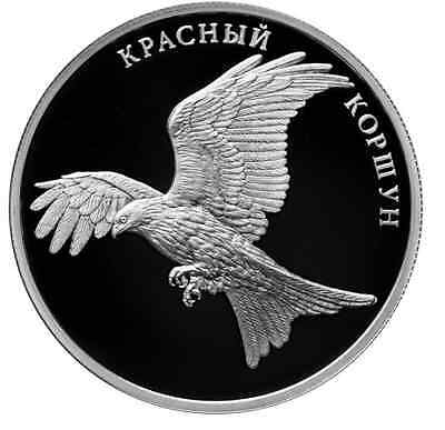 2016 RUSSIA 2 R RUBLE SILVER PROOF Red Kite Red Data Book
