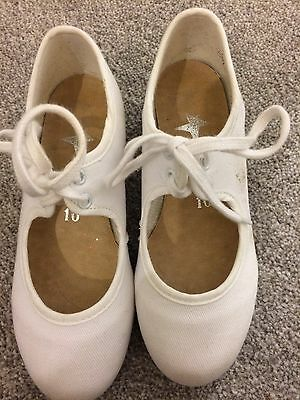 Girls White Tap Shoes Size 10