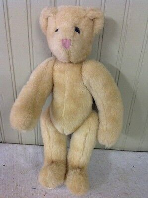 """CFREE SHIPPING!! 1992 Vermont Teddy Bear Light Brown Fully Jointed Bear 13"""""""