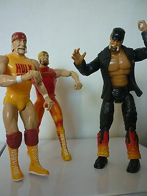 3 x Hulk Hogan wrestling action figures. wwe-wwf. Collectables.