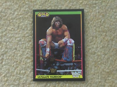 Wwf 1992 Merlin Gold Series 2 Ultimate Warrior Card 2