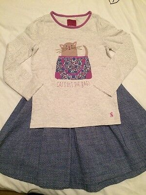 Joules Age 7-8 Girls Outfit, Skirt And Top T Shirt