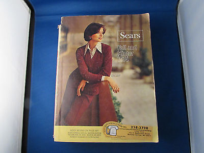 Vintage Sears Fall and Winter Catalog 1974