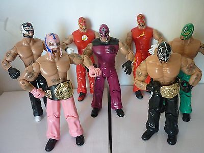 7 x The Mexicans wrestling action figures. wwe-wwf All different outfits.