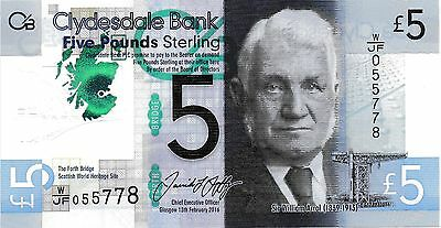 Clydesdale Bank - Polymer £5 note