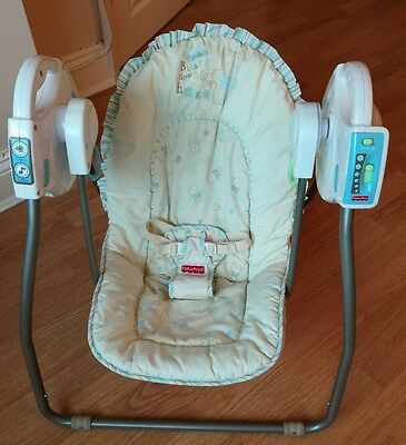 Fisher price big hugs open top swing with music and swinging take along folding