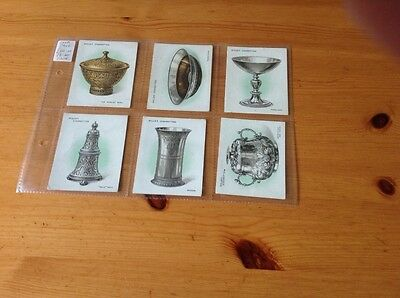 cigarette cards.Wills.Old Silver.Full set.Good condition. Large Cards.