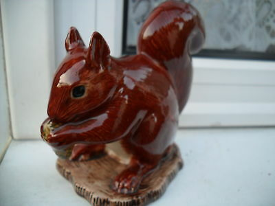 Unusual Ceramic  Squirell  Figurine   By Quail  Pottery  Ideal Gift