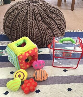 LATITUDE Shape And Sound Sorter Stuffed Toy Educational Baby Toddler Sensory Toy