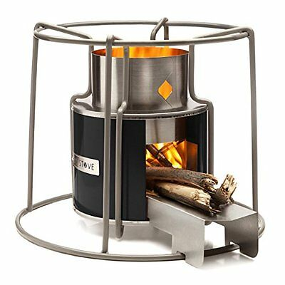 Stove Wood Burning Heater Cooking Camping Beach Portable Outdoor Fire Metal NEW