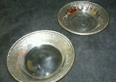 Vintage Reed and Barton 1202 Silverplated Set of Two Bowls