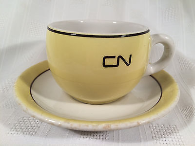 Canadian National Railway CNR Yellow Duraline Grindley Coffee Cup w/ Saucer 3-67