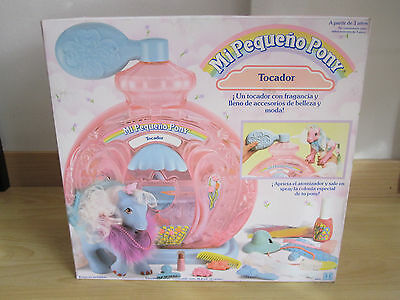 Pequeño Little Pony Poof'n Puff Perfume Palace Tocador Spain Spanish Rare New !