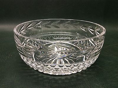 """Waterford Crystal Glass Bowl Glandore Pattern 8"""""""