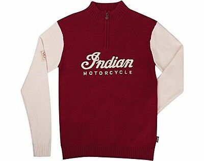 Indian Red / White Race Knit Sweater Medium - 286375503