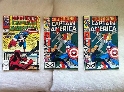 Captain America Comics Issues 375,376 and 376.