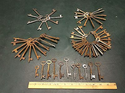 Large Lot of Antique Skeleton Keys Collection Steampunk Crafts Doors Padlocks