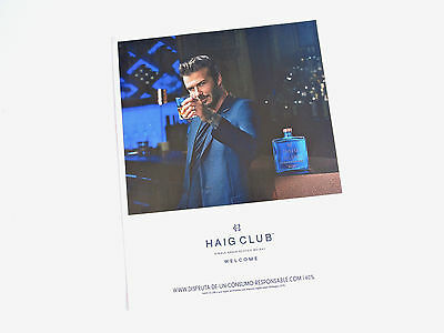 Publicidad HAIG CLUB Scotch Whisky Anuncio Advert Ad Publicite David Beckham