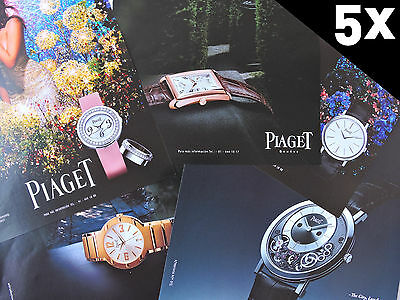 5x PIAGET advertising / Publicidad Pubblicite Publicita Watch Montre Reloj Uhr