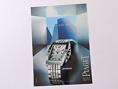 Publicidad PIAGET Upstream / Anuncio Advert Publicite Watch Montre Spanish Ad