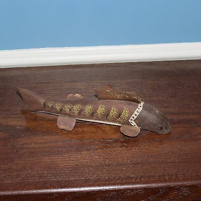 antique ice fishing decoy wooden lure weighted