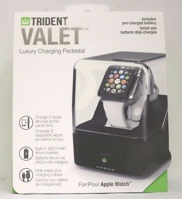 Trident Case - Odyssey Valet Portable Charging Pedestal for Apple Watch - Brown