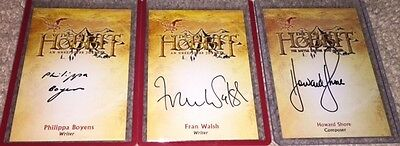 Hobbit Unexpected Journey Cryptozoic Fran Walsh Writer CA-3 Autograph Card SP