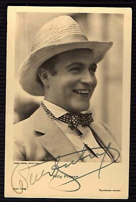 Postcard WILLY FRITSCH Autograph Actor Artist Signed COLLECTION  RARE