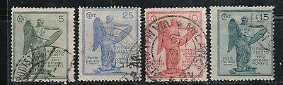 1921 Italy stamps, full sets used, SC 136-9