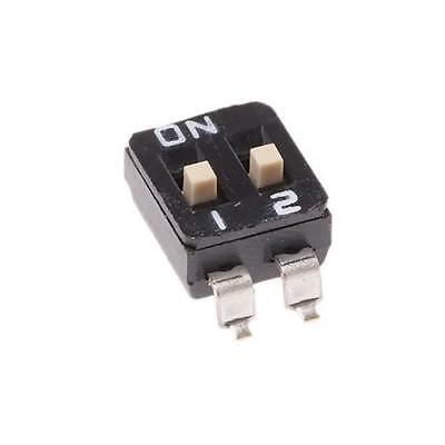 5 x KNITTER-SWITCH SBS9102TK, 2 Way Surface Mount DIP Switch DP-NO