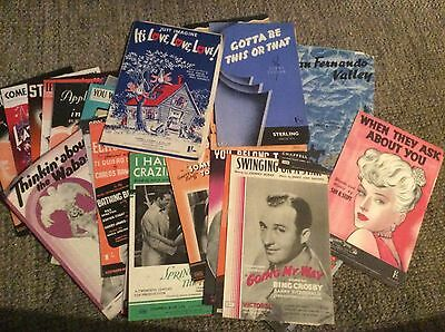 Sheet Music.Job Lot.Over 40.From Musicals,Movies Etc.