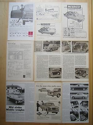 Austin Cambridge A55 Wolseley 16/60 MG Magnette Riley 4/72 4/68 Reports/ Adverts