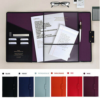 Classy A4 Document Folder Brief Case Bag Business Conference Excutie Portfolio