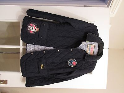 Girls Navy Pauls Boutique Quilted Jacket / Coat Size Medium
