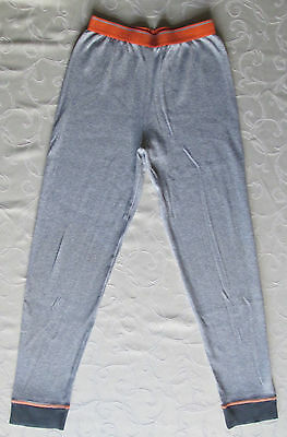 New - Marks & Spencer - Boys 11-12 Years - Light Grey Marl Long Thermal Trousers