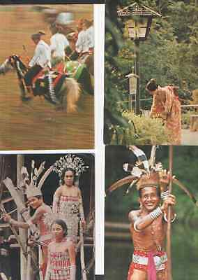Four  Mas  Malaysian Airline System  Airline-Issue Advertising Postcards