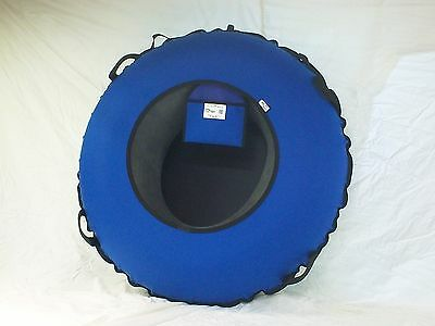 "NEW 44"" Heavy Duty Snow Tube BLUE/Black SLICK BOTTOM Made in USA"