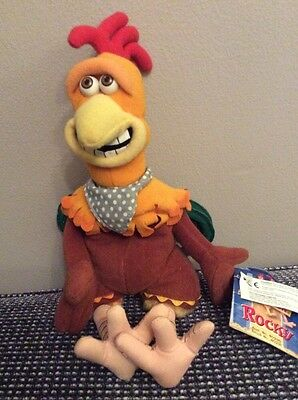 "Dreamworks Chicken Run Rocky 10"" Soft Toy Beanie With Tag"