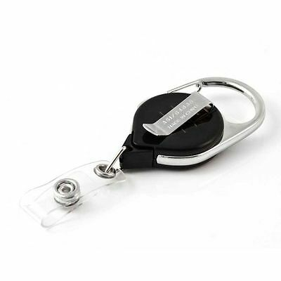 KEY-BAK Retract a Badge (5 Pack) with Carabiner and Belt Clip - ID Holder Reels