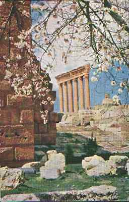 Mea  Middle East Airlines Vickers Viscount To Lebanon  Baalbek 1959 Postcard