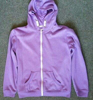 Lovely Girls Purple YD LOVE Sweatshirt Hoodie Hoody Zip Top Size 12-13Years
