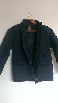 Rebel quilted padded jacket / coat with cord collar size 9-10 years MINT COND.!