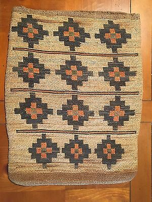 Antique Native American Nez Perce Corn Husk Bag Large And Fine Quality