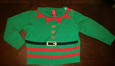 boys 12-18 months christmas clothes Santas littlr helper knitted jumper sweater